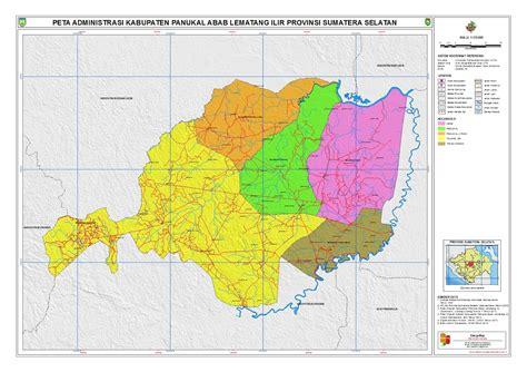 peta kota peta kabupaten penukal abab lematang ilir