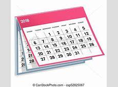 Kalender 18eps Calendar 2018 illustration