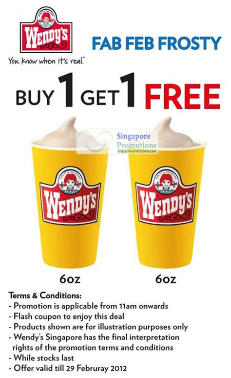 wendys feb wendys frosty coupon promotion