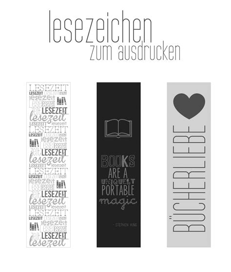 freebie lesezeichen zum ausdrucken printable