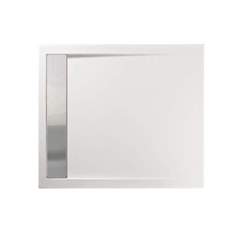 piatto doccia acciaio piatto doccia acrilico 90x70 cm con canalina in acciaio