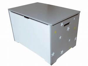 Coffre Jouet Enfant : coffre de rangement stars coloris gris vente de petit rangement enfant conforama ~ Teatrodelosmanantiales.com Idées de Décoration