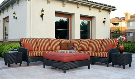 huntington wicker outdoor large sectional sofa patio