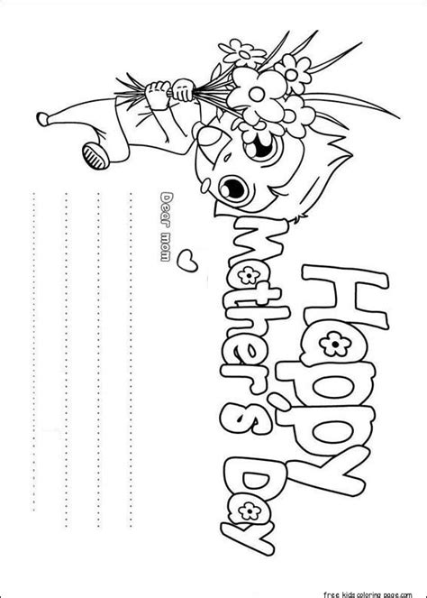 boy holding flower  mom happy mothers day coloring pagefree printable coloring pages  kids