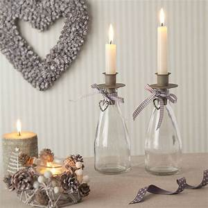 Glass, Bottle, Candle, Holder, By, The, Christmas, Home