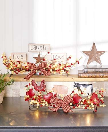 lakeside home decor lighted country centerpieces the lakeside collection