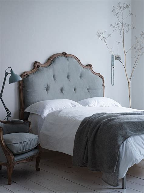 gray wood headboard cox and cox bed with upholstered grey fabric headboard