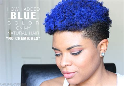 Natural Hair Rebel Hair How I Added Blue Color To My
