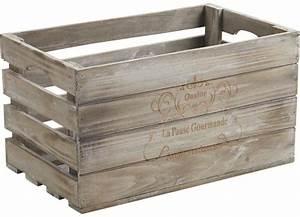 Caisse En Bois : caisse en bois pause gourmande ~ Nature-et-papiers.com Idées de Décoration