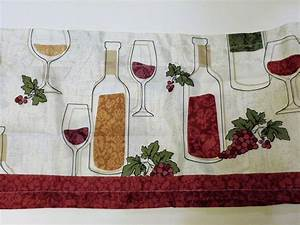 wine bottles grapes kitchen curtains set tiers valance set With kitchen colors with white cabinets with candle holders for wine bottles
