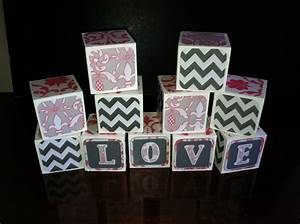 custom alphabet blocks wooden letter blocks baby shower With custom block letters