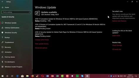 windows 10 cumulative update kb4487044 fails to install version 1809