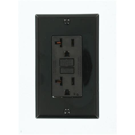 Leviton 20 Amp Smartlockpro Gfci Outlet, Blackgfnt2e