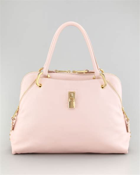lyst marc satchel bag pale pink in pink