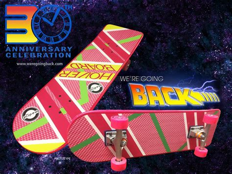 Back To The Future Hoverboard Skateboard Deck by 30th Anniversary Limited Edition Marty Mcfly Pink