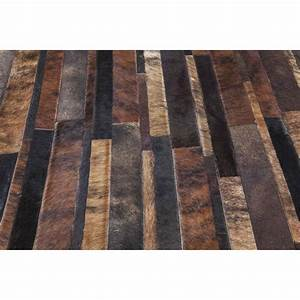 Tapis design brick marron 170x240cm kare design for Tapis design avec canape cuir perpignan
