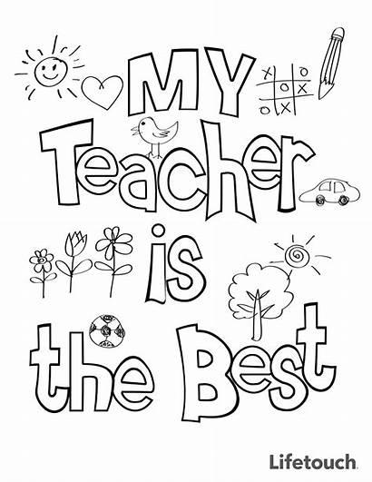 Coloring Teacher Appreciation Sheet Cards Teachers Thank