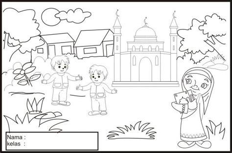 gambar mewarnai islami untuk anak sd