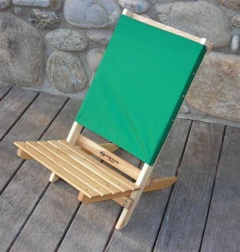 highlow  folding wood beach chair