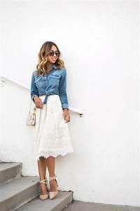 Outfit Sommer 2017 : jeanshemd kombinieren wenn ihr denim so stylt habt ihr einen guten stil modetrends fr hling ~ Frokenaadalensverden.com Haus und Dekorationen