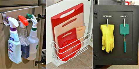 Kitchen Cupboard Door Storage by Cabinet Door Storage Ideas Organization Tricks For Cabinets