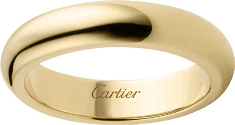 crb  wedding ring yellow gold cartier