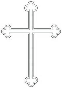 Budded Cross Clip Art