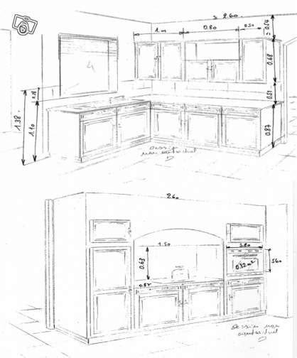 hauteur meubles cuisine meuble de cuisine hauteur idées de décoration intérieure