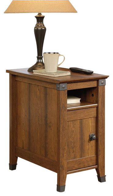 sauder carson forge side table sauder carson forge side table in washington cherry