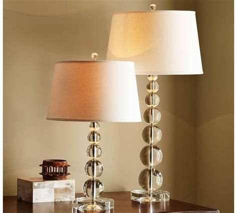 Stacked Crystal Table & Bedside Lamp Base   Pottery Barn