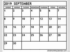 Download September 2019 Calendar – Printable Blank & Editable