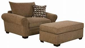 5460 extra large chair and a half ottoman set for casual for Large living room chairs