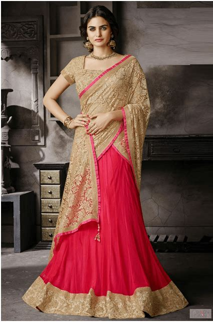 Bridal Lehenga Draping - easy breezy lehenga style saree draping saree guide