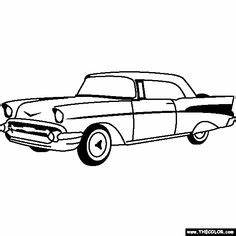hot cars coloring pages vintage cars coloring pages With 1955 chevy hot rods