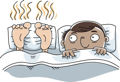 Stinky Feet In Bed Stock Illustration. Illustration Of