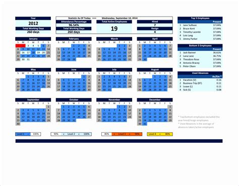 annual leave planner excel template excel templates