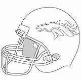 Coloring Pages Broncos Helmet Worksheets sketch template