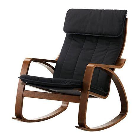 ikea poang rocking chair medium brown with cushion 608938306036 249 49