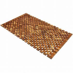 Tapis De Bain Bois : tapis de salle de bain tapis de sol antid rapant en bois acacia 80 x 50 cm ebay ~ Melissatoandfro.com Idées de Décoration