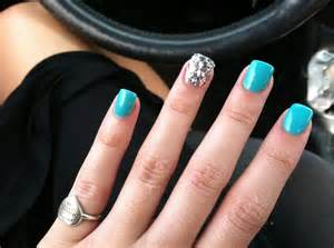 Turquoise Acrylic Nail Designs