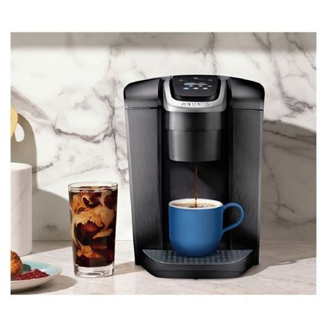 With a striking brushed finish and metal details, it's a stylish addition to any kitchen. Keurig K-Elite Single-Serve K-Cup Pod Coffee Maker with Iced Coffee Setting - Gold   Pod coffee ...
