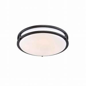 Envirolite in oil rubbed bronze white low profile led