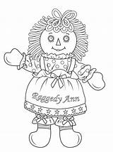 Coloring Doll Ann Raggedy Pages American Andy Cabbage Patch Dolls Colouring Rag Printable Paper Drawing Sheets Printables Books sketch template