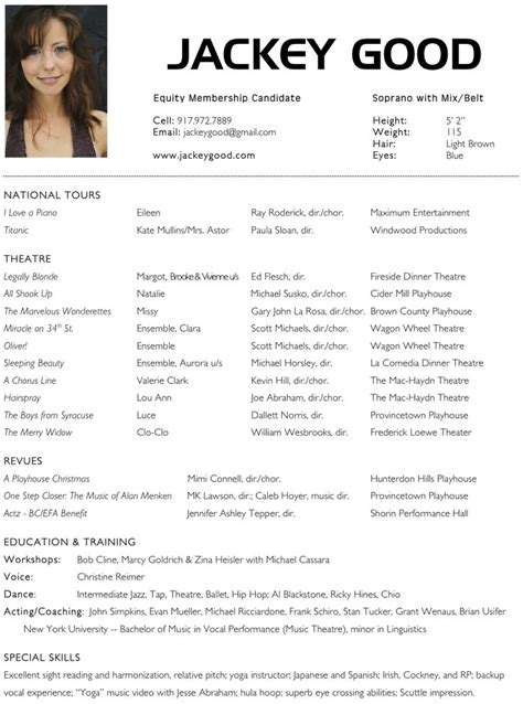 Acting Resume by 8 Best Actor Images On Free Stencils