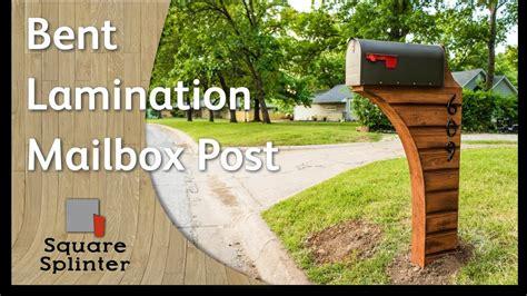 bent lamination cedar mailbox post woodworking diy