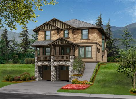 3 Bed House Plan For Front Sloping Lot 23372JD