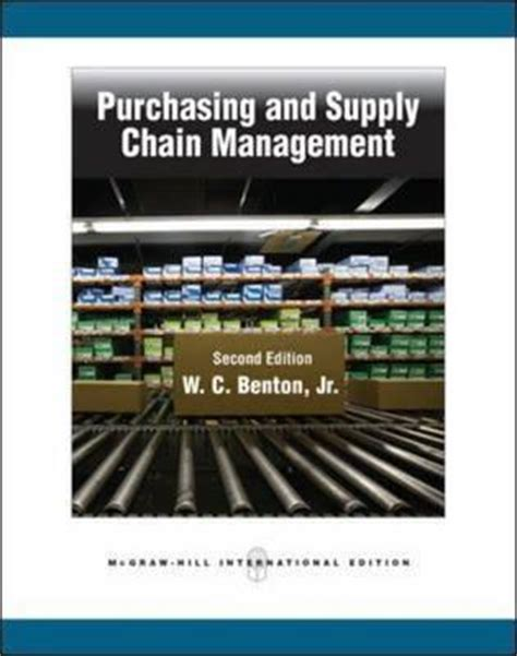 purchasing  supply chain management  wc benton jr