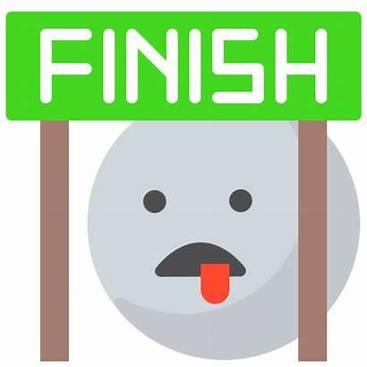 Finish Emoji Icon Goal Tired Emoticon Icons