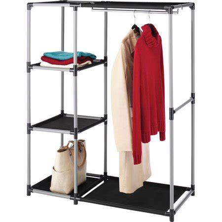 walmart clothing rack whitmor resin garment rack and shelves black gray