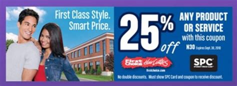 25% Off First Choice Haircutters